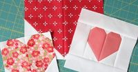 I heard you! Or read your emails at least�€�so here's some info on making those heart blocks in multiple sizes. The full heart quilt tutorial is here. To make eac