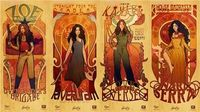 Art Nouveau big damn (female) heroes