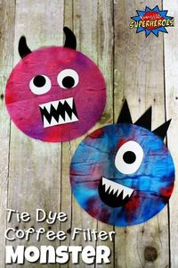 Creating a Tie Dye Coffee Filter Monster is a creative process art activity. It is fun for a group of kids to make because no two monsters are alike.