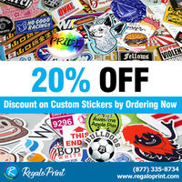 """Get 20% Flat Discount on All Customized Stickers""