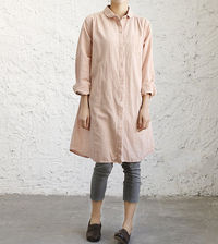 Women large size loose fitting dress in Pale pink/ white/ Red wine/ dark blue