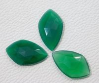 29x17x4 MM Approx 3Pcs Natural Green Onyx Faceted Gemstone Loose Onyx Cabochon 29.00 Ct Green Onyx Matched Pair Super Quality Onyx Faceted $35.36