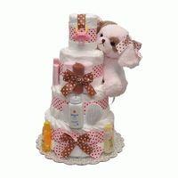 Waggles Luccaby Baby Boy Diaper Cake 4 Tiers