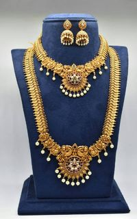 Beautiful indian matte finished bridal set $300.00