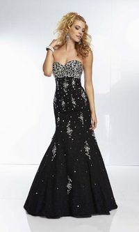 2014 Black Sequins Mermaid Lace Evening Dresses