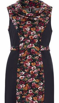 Dorothy Perkins Womens Izabel London Multi Blue Floral Cowl Multi blue floral fold over sleeveless dress with a cowl neck and is unfastened. Length 79cm. 97% Nylon,3% Elastane. Cold hand wash. Do not dry clean. http://www.comparestoreprices.co.uk/...
