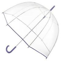 totes® Clear Bubble Umbrella - Purple Trim