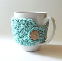 knitting patterns, crochet mug cozy and crochet stitches.