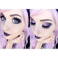 Pastel Goth Queen � liked on Polyvore featuring makeup, hair, pastel goth, pictures and women