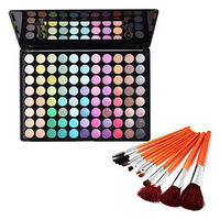 88 Colors Eye Shadow & Cosmetic Brushes Set