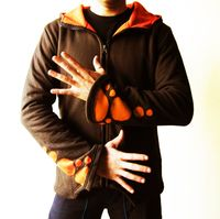 Psy Hoodie for Men with Pointed Hood - Cotton with Fleece Lining - Cut out -Goa Style $65.00