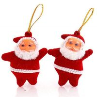 Pack of 6 Mini Santa. 4cm height. Novelty Christmas Tree Decoration. Xmas Ornaments Party Gift £2.89