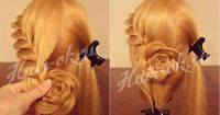 This elegant hairstyle is perfect for a night out, a romantic date, a special occasion or an evening event. The rose bud flower braid hairstyle is suitable for
