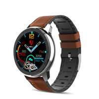 LEMFO ELF2 Full Round Touch HD Screen Wristband PPG+ECG Heart Rate Monitor BT5.0 Smart Watch