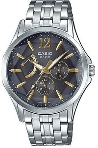 CASIO Mod. PRISMATIC DAY DATE 24H STAINLESS STEEL MTP-E320DY-1A $108.00