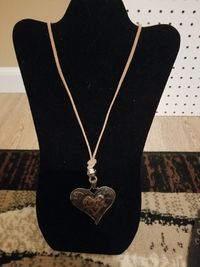 Hobo Chic Copper Heart Pendant Necklace $5.00