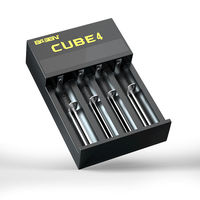 BASEN CUBE 4 Slots Battery Charger 18500 14650 16650 26650 21700 Charger With US/ U Plug
