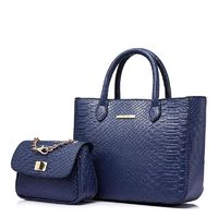 Women Two sets handbags tote bag crocodile pattern shoulder Bag $43.45