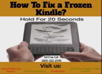 How To Fix a Frozen Kindle? Check out here: https://goo.gl/82oJqp