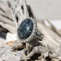 Sterling Silver Variscite Ring Size 8 1/2 $54.95