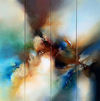 Original abstract painting 'Breaking Dimensions' by award-winning artist Simon Kenny $12345.00