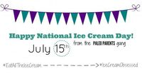 Check out our Paleo Ice Cream Round up for some great recipes to celebrate National Ice Cream Day!
