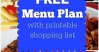 Facebook Twitter Pinterest E-mail YummlyAre you ready for another fun set of FREE Weekly menu plans. I think you will love the recipes this week. I've based the