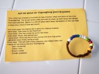 The Thanksgiving story bracelet..I haven't made these in years. My kiddos used to love this activity though.