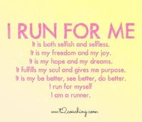 Why do you run? My menetal and physical wellbeing