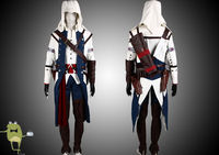 Assassin's Creed 3 Connor Cosplay Costume Outfit