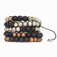Lava Stone and Tulsi or Sandalwood Adjustable Braided Bracelets $12.00