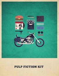 pulp fiction, hipsters and movies.