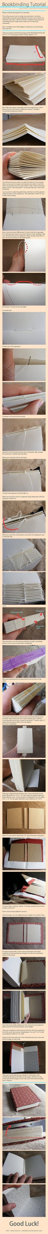 bookbinding -- how to bind your own books. Make a travel journal?