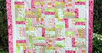 Pink and Green Fence Rail #Quilt