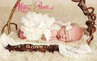 Baby Girl Coming Home Outfit.Petti lace by HartsandRoses on Etsy, $15.95