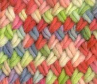 Cross stitch knitting pattern. Step-by-step instructions welcome.