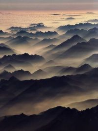 "Misty hills. [""Other Worlds"" - fictional landscapes crafted from real-earth photographs. Get inspired! http://matthewbrennan.net - short stories, blog, translation, editing.]"