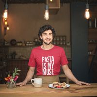 Gift for Chef - Pasta is my Muse Short-Sleeve Unisex T-Shirt - Foodie Food Lovers $32.95