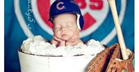 Cubs fan. I want my baby one day to have a pic like this. It's so cute<3