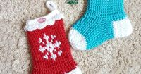 Snowflake Christmas Stocking or Slipper Boots - Free Crochet Pattern with Tutorial on myhobbyiscrochet.com