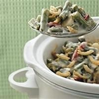 Throw all the traditional ingredients for green bean casserole in the slow cooker on Thanksgiving morning, and it will be ready by the time dinner is on the table.