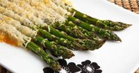 Roasted Asparagus Crusted with Parmigiano Reggiano