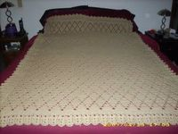 Free Crochet Pattern - Diamond Ghan from the Afghans Free Crochet Patterns Category and Knit Patterns