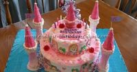 Disney Castle Cake: I had an Everything Disney party for my daughter's fifth birthday party. Kids came dressed up as any Disney character they like! We had Nemo, Snow White,