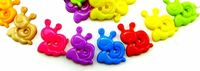 Pack of 100 Assorted Colours Snail Animal Buttons. 13mm x 15mm Children Clothes Accessories £7.79