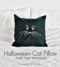 Free Halloween Cat Pillow Template by OhOh Blog