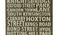 John Lewis London Places Placemats, Set of 4 With a design similar to writing in chalk on a blackboard, these contemporary placemats showcase the names of popular destinations in London. Made from hardboard and corkbacked. http://www.comparestoreprices....
