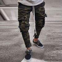 Mens Skinny Stretch Denim Pants Camouflage Pleated Ripped Freyed Slim Fit Jeans Trousers 2019 Hot cargo pants jeans men Clothing $67.16