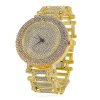 Gold Plated Crystal Dial Round Bezel Watch £20.36