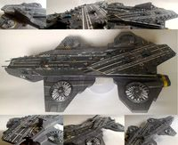 The Shield Helicarrier, Nick Fury, quinjet, Avengers, papercraft, papermodel, DIY, PDF papercraft, PDF papermodel, aircraft carrier $13.95